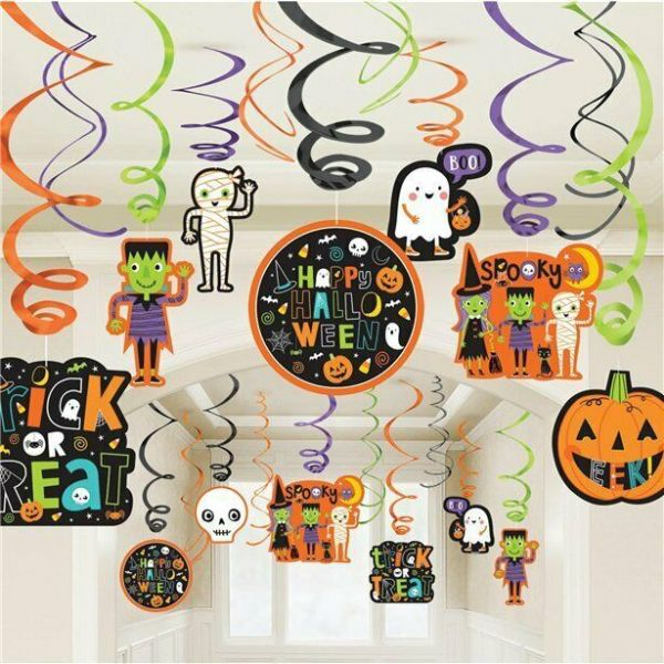 Halloween Hanging Swirl Decorations (30pk)